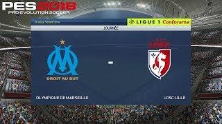 Pes 2018 (pc) marseille v losc lille | ligue 1 prediction | 21/4/2018 | 1080p 60fps