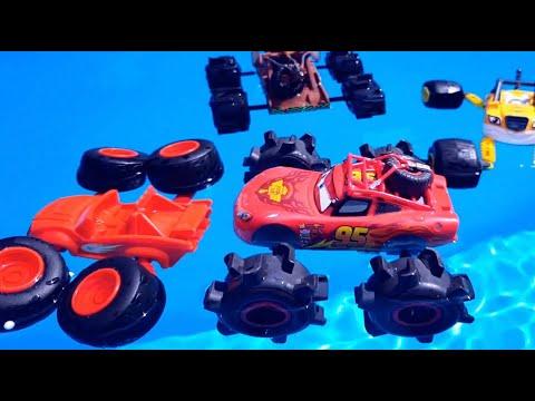 Мультики про Машинки на пляже и в воде