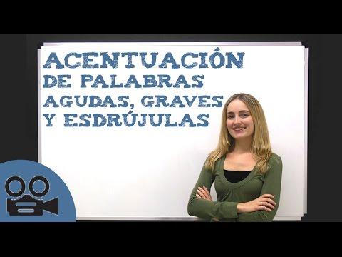 Acentuación de palabras agudas, graves y esdrújulas - Lengua Española Básica