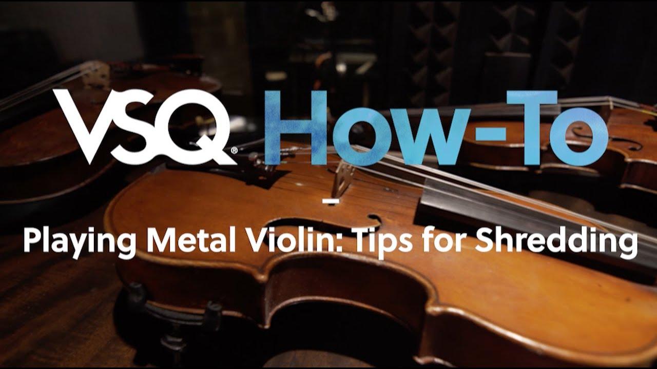 """Playing Metal Violin: Tips for Shredding (Metallica's """"Enter Sandman"""")"""