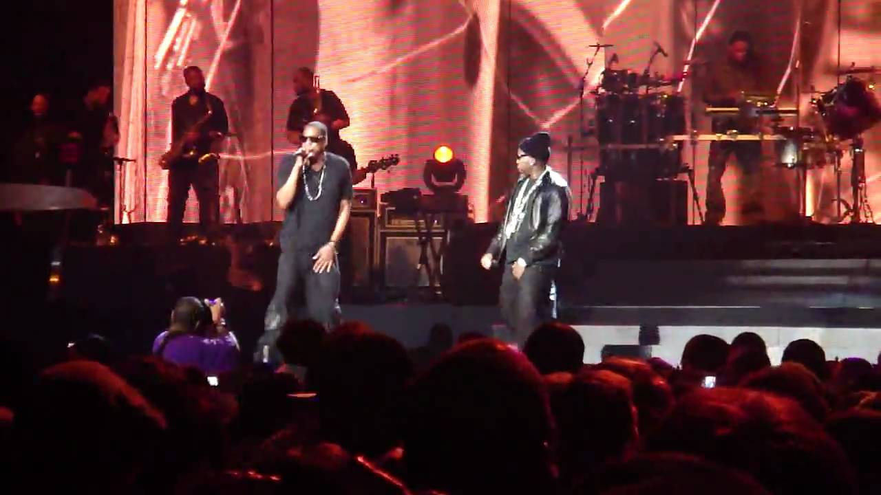 Jay z and young jeezy performing as real as it gets at blueprint 3 jay z and young jeezy performing as real as it gets at blueprint 3 concert in atlanta malvernweather Gallery