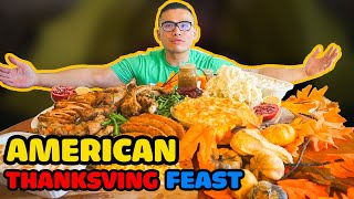 American THANKSGIVING FEAST *Mukbang
