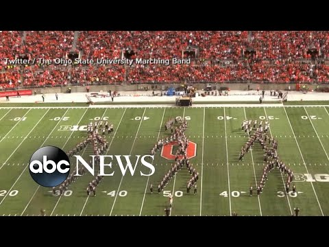 College football team really stepped up the halftime show's game