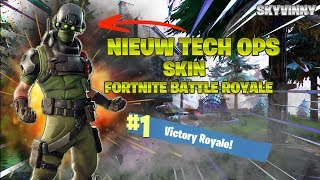 NIEUW TECH OPS SKIN IN FORTNITE BATTLE ROYALE/1000+ WINS/ROAD TO 4K-SKYVINNY