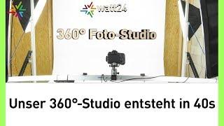 Unser neues 360° Studio entsteht in 40s