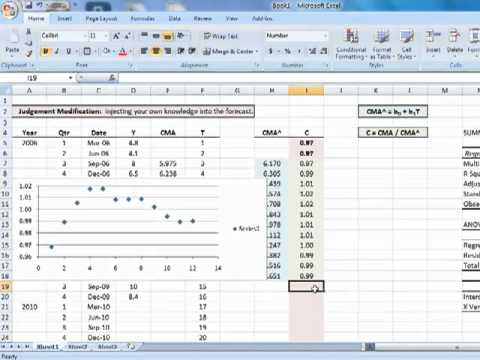 EXCEL 2007: Two-Variable Regression using function LINEST