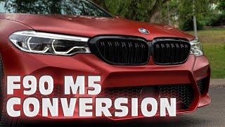 BMW G30-F90 M5 DÖNÜŞÜMÜ!!! (SATIN VAMPIRE RED) thumbnail