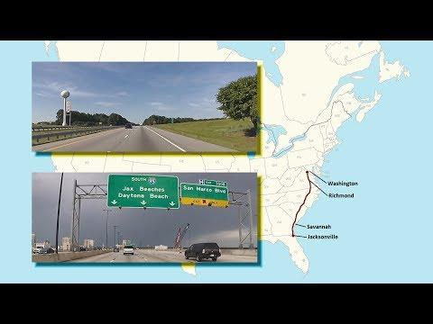 Herndon, Virginia To Jacksonville, Florida (Real-Time Road Trip)
