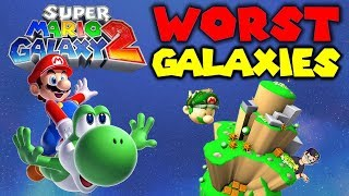 Top 10 WORST Galaxies in Super Mario Galaxy 2 Feat. TetraBitGaming !