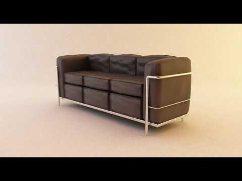 vray test sofa youtube. Black Bedroom Furniture Sets. Home Design Ideas