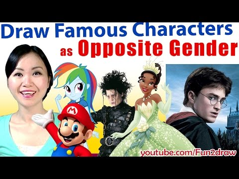 ART CHALLENGE: Movie + Game Characters as OPPOSITE Gender | Mei Yu