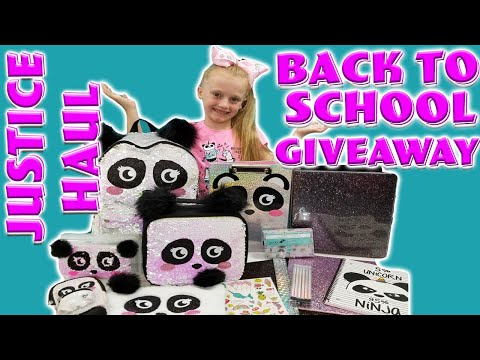 BACK TO SCHOOL GIVEAWAY + JUSTICE SHOPPING