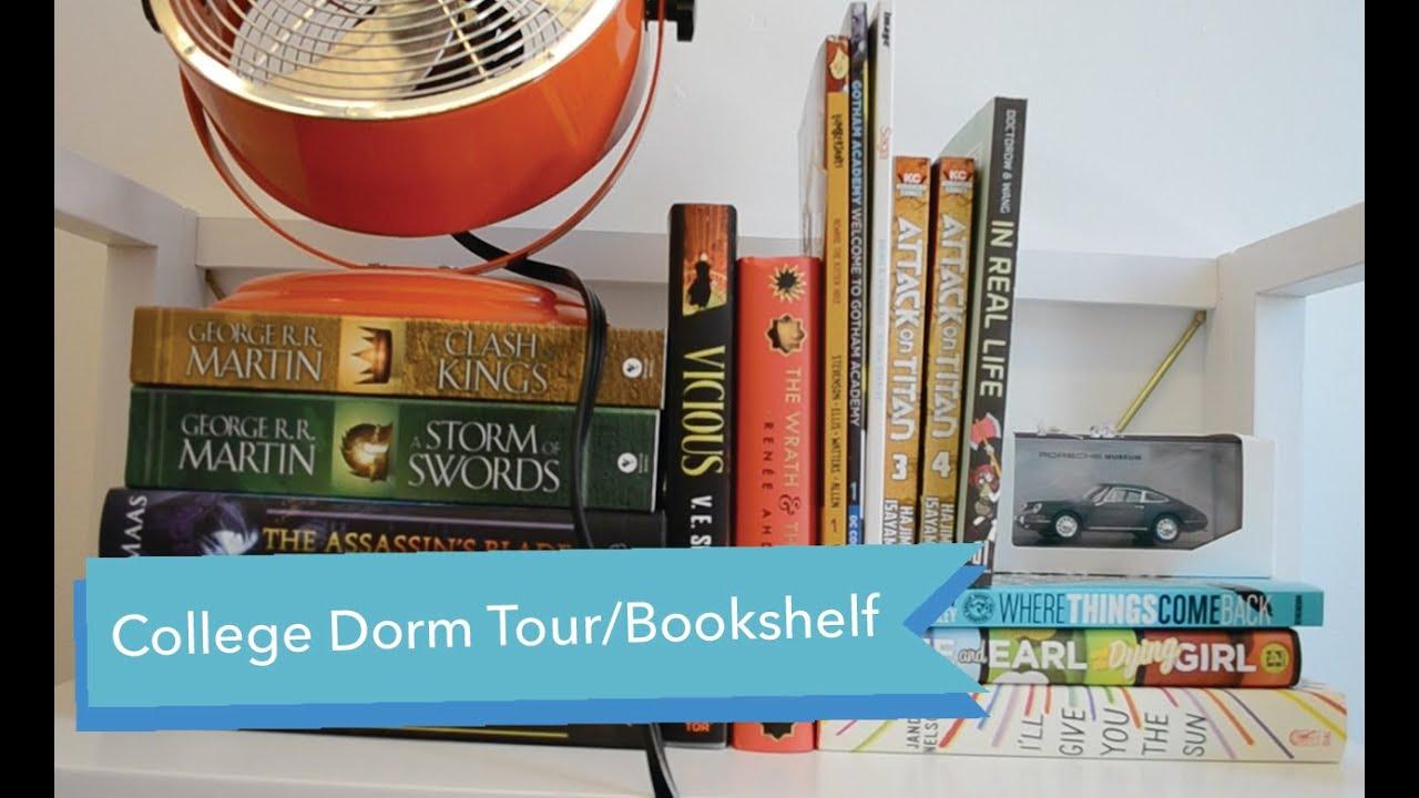 College Dorm And Bookshelf Tour