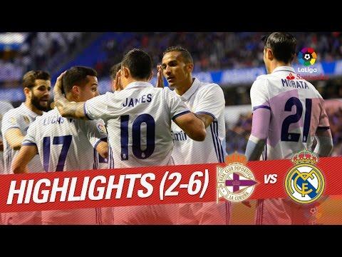 Resumen de Deportivo de la Coruña vs Real Madrid (2-6)