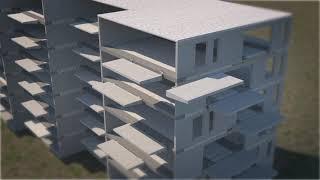 Prefab balkons aan kanaalplaatvloeren - Schöck & VBI