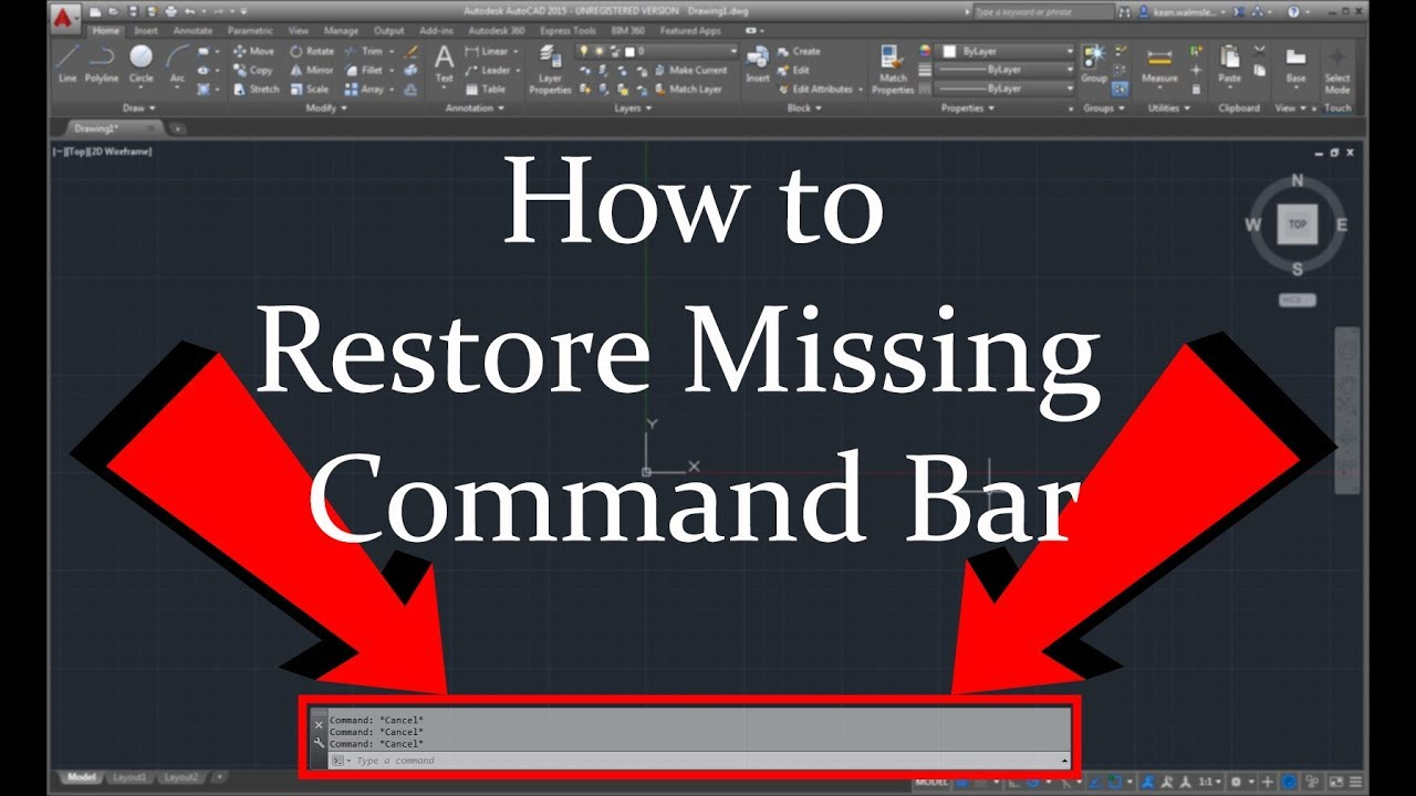 How To Restore Missing Command Bar In AutoCAD 2017 | DigitalKnowledge