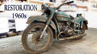 Восстановление старого мотоцикла из 1960-х | Old Soviet motorcycle full Restoration
