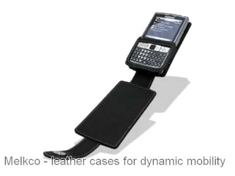 Melkco Tasche Leder Etui cuir ~ Samsung AT&T SGH-i907 Epix Flip Down Type (Black) Ver. 2