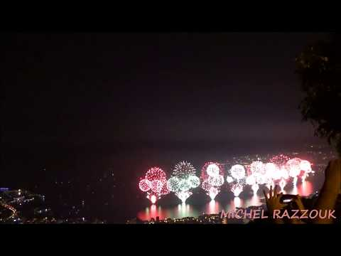 Jounieh Bay Fireworks Show Spectacular, Lebanon (2017-06-24)