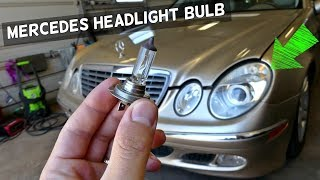 MERCEDES W211 LOW BEAM HEADLIGHT BULB REPLACEMENT REMOVAL