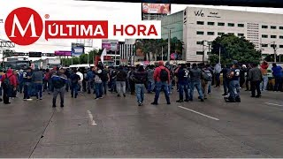 Policías federales bloquean acceso del Aeropuerto de la CdMx