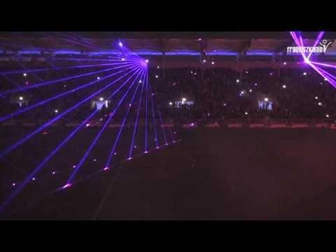 Arka Gdynia - otwarcie stadionu - lasery