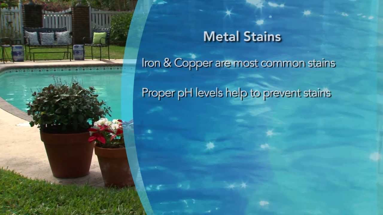 Preventing And Removing Swimming Pool Metal Stains By Aqua Chem Youtube