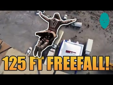 Assassin's Creed Movie Behind The Scenes Footage Damien Walters   125 feet free fall
