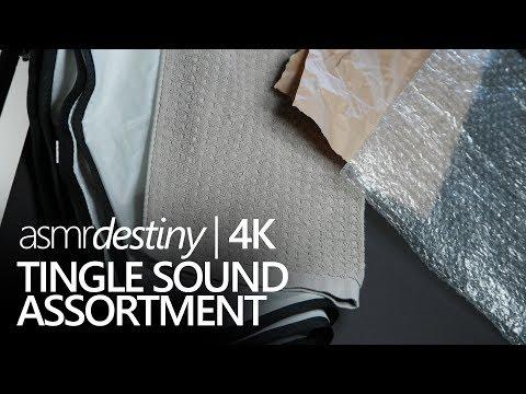 Sound Assortment - Paper, Bubble Wrap, Nylon, Fabric (ASMR, 4K)