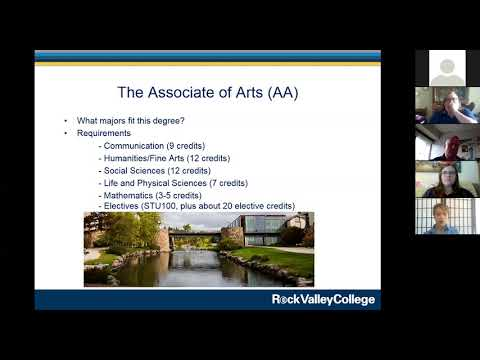 Advising Webinar with Rock Valley College Advisors