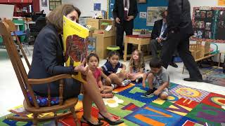 The First Lady of Virginia tours schools in Shenandoah Valley for school rediness