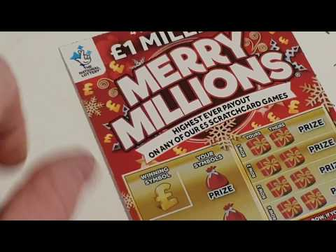 Full pack merry millions national lottery scratchcards ASMR