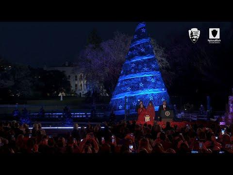 Trump Lights National Christmas Tree