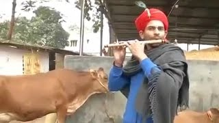 Watch | Bihar minister Tej Pratap Yadav dresses up as Krishna, plays flute