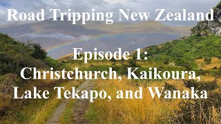 Road Tripping New Zealand, Episode 1: Christchurch, Kaikoura, Lake Tekapo, and Wanaka.
