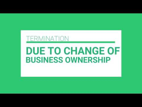 3 MUSKETEERS-TERMINATION DUE TO CHANGE OF BUSINESS OWNERSHIP