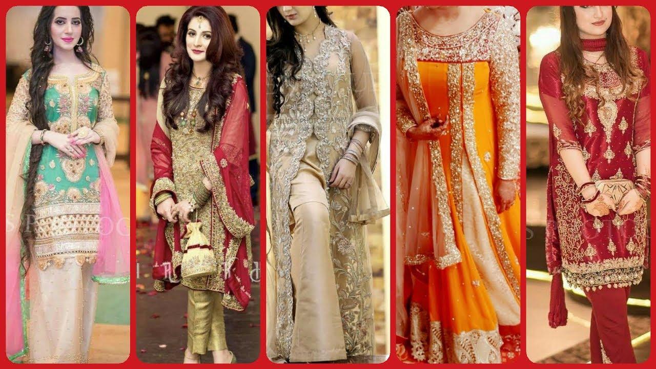 Top Designer Fancy latest party Mahendi walima wear dress design
