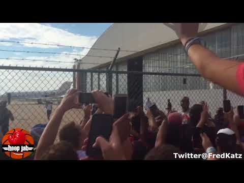 OKC Thunder Fans Loudly Greet Carmelo Anthony At The Airport. HoopJab NBA