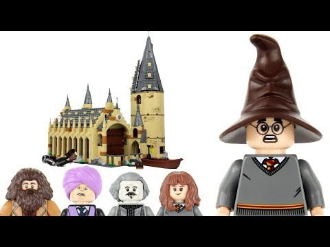 LEGO Harry Potter 2018 Hogwarts Great Hall 75954 Review!