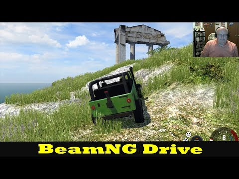 RIP HEADPHONES INTRO! TELL IT ON THE MOUNTAIN - BeamNG Drive Descent Road