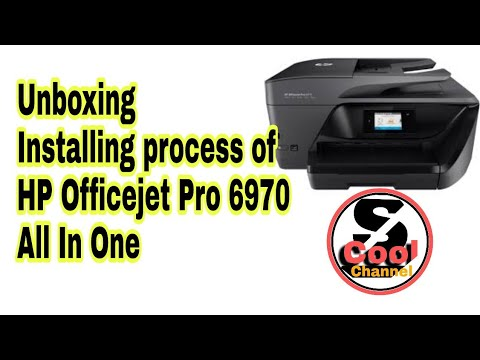 Unboxing And Installing Process Of Hp Officejet Pro 6970 All In