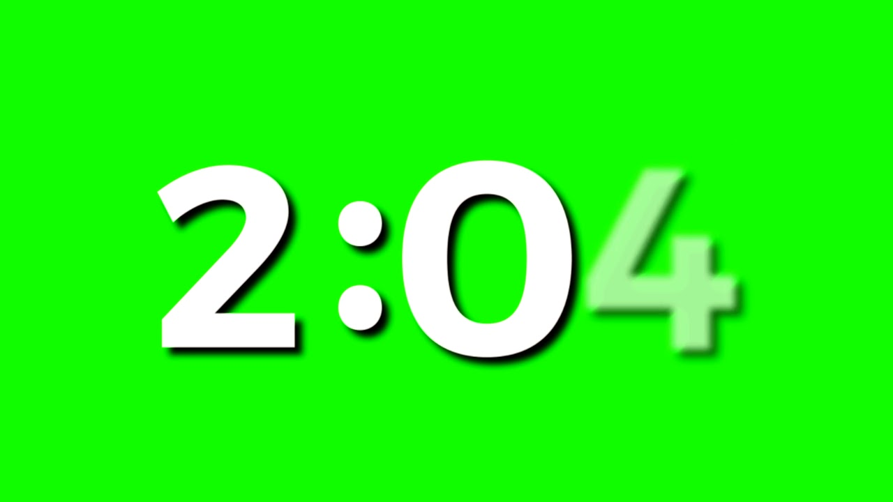 4K Green Screen Free - FIVE (5) MINUTE COUNTDOWN TIMER WITH LOUD ALARM - YouTube