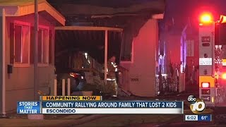 Community rallying around family that lost two kids in fire