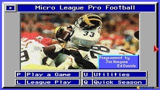 Micro League Football 1 gameplay (PC Game, 1991)