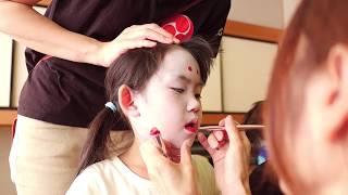 鳥出神社の鯨船行事 北島組 化粧の様子