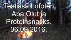 2016 09 06 Testissä Lofoten Apa Olut ja Proteinsnacks   Ja porinoita