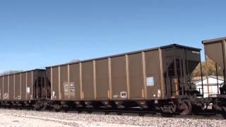 BNSF 9289/9323 S/B coal loads Pleasanton Kansas.