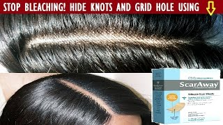 How to: Hide The Grid and Knots of Closure Without Bleaching/ Make Frontal Look Natural Like Scalp.