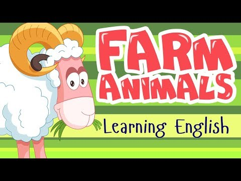 FARM ANIMALS for KIDS || Learn English - Учим английский для детей - Домашние животные