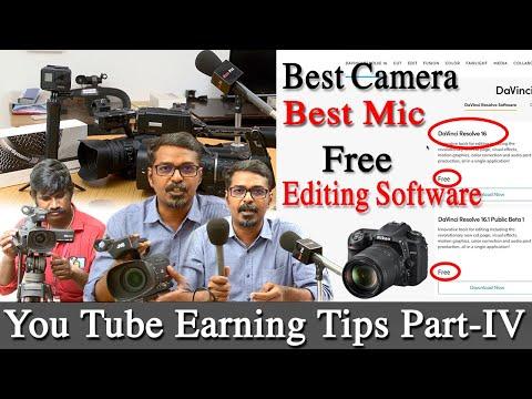 dslr camera Vs video camera Vs gopro hero 7 black and best mic youtube earning tips part 4 tamil
